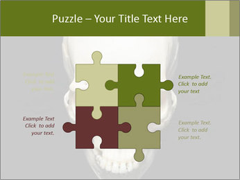 Scary Human Skull PowerPoint Template - Slide 43