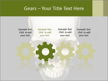 Scary Human Skull PowerPoint Template - Slide 48
