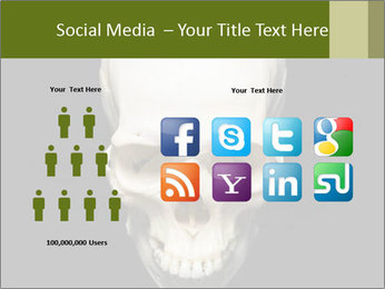 Scary Human Skull PowerPoint Template - Slide 5