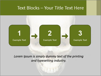 Scary Human Skull PowerPoint Template - Slide 71
