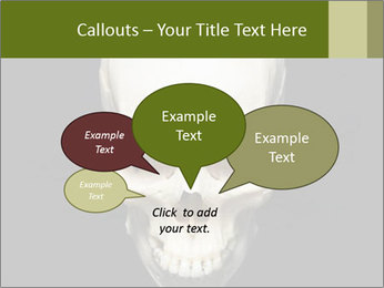 Scary Human Skull PowerPoint Template - Slide 73