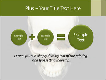 Scary Human Skull PowerPoint Template - Slide 75