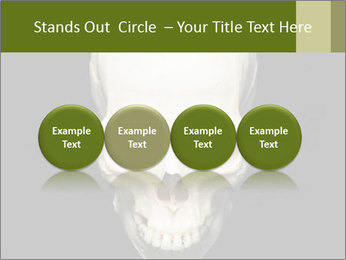 Scary Human Skull PowerPoint Template - Slide 76