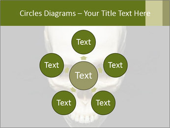 Scary Human Skull PowerPoint Template - Slide 78
