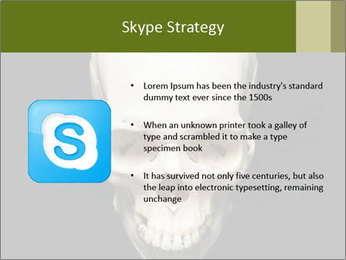 Scary Human Skull PowerPoint Template - Slide 8