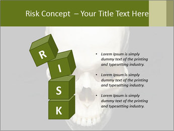 Scary Human Skull PowerPoint Template - Slide 81