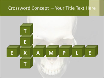 Scary Human Skull PowerPoint Template - Slide 82