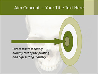 Scary Human Skull PowerPoint Template - Slide 83