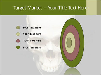 Scary Human Skull PowerPoint Template - Slide 84