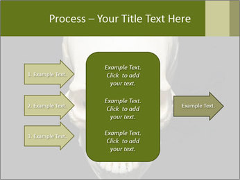 Scary Human Skull PowerPoint Template - Slide 85