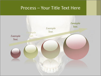 Scary Human Skull PowerPoint Template - Slide 87