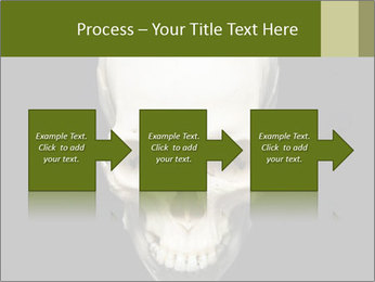 Scary Human Skull PowerPoint Template - Slide 88