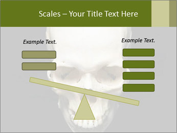 Scary Human Skull PowerPoint Template - Slide 89
