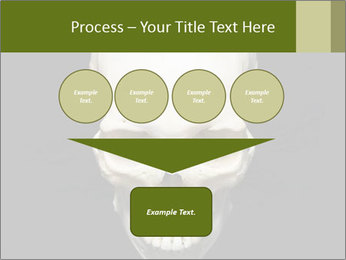 Scary Human Skull PowerPoint Template - Slide 93