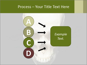 Scary Human Skull PowerPoint Template - Slide 94