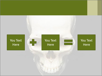 Scary Human Skull PowerPoint Template - Slide 95