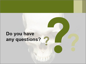 Scary Human Skull PowerPoint Template - Slide 96