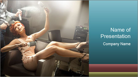 Model and Beauty Salon PowerPoint Template