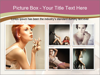 Woman with Red Short Hairstyle PowerPoint Templates - Slide 19