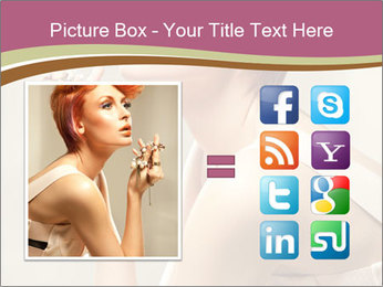 Woman with Red Short Hairstyle PowerPoint Template - Slide 21