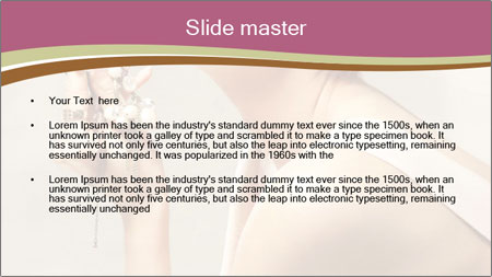 Woman with Red Short Hairstyle PowerPoint Template - Slide 2