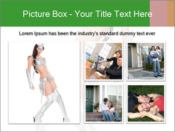 Sexy Dancer in Silver Costume PowerPoint Templates - Slide 19