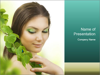 Eco Treatment PowerPoint Template - Slide 1