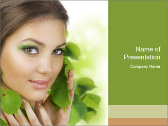 Eco Beauty Treatment PowerPoint Templates - Slide 1