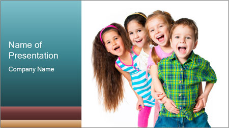 Smily Kids PowerPoint Template