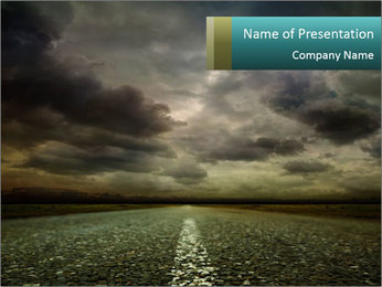 Roadside and Thunderstorm PowerPoint Template - Slide 1