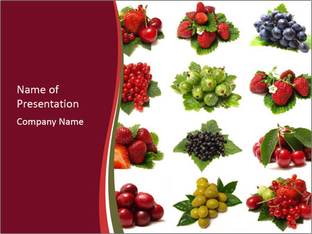 Catalogue of Berries PowerPoint Templates