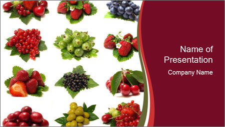 Catalogue of Berries PowerPoint Template