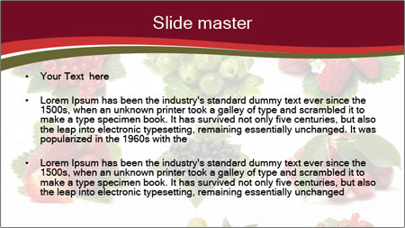 Catalogue of Berries PowerPoint Template - Slide 2