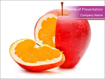 Apple with Orange Inside PowerPoint Template