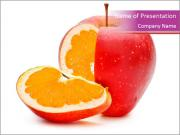 Apple with Orange Inside PowerPoint Templates