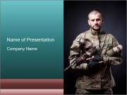 Man Wearing Paintball Uniform PowerPoint Templates