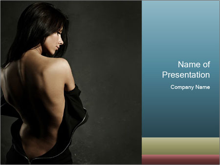 Glamour Evening Gown PowerPoint Templates