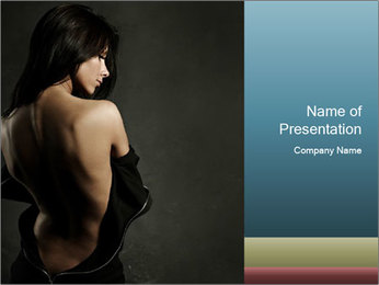 Glamour Evening Gown PowerPoint Template - Slide 1