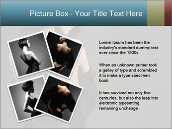 Glamour Evening Gown PowerPoint Templates - Slide 23