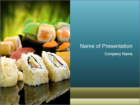 Tuna Roll PowerPoint Template