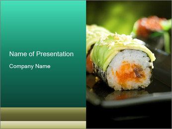 Nigiri Roll PowerPoint Templates - Slide 1