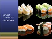 Fresh Sushi Set PowerPoint Templates