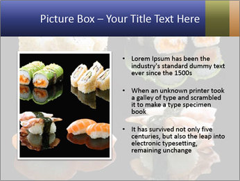 Fresh Sushi Set PowerPoint Templates - Slide 13