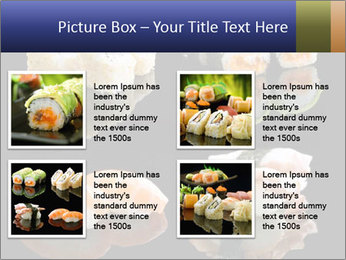 Fresh Sushi Set PowerPoint Templates - Slide 14