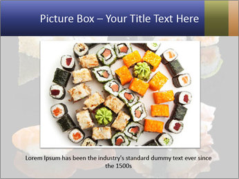 Fresh Sushi Set PowerPoint Templates - Slide 16