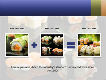 Fresh Sushi Set PowerPoint Templates - Slide 22