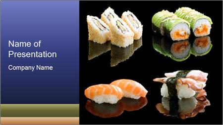 Fresh Sushi Set PowerPoint Template