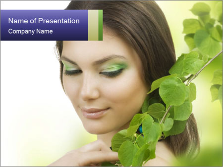 Spring Makeup PowerPoint Template