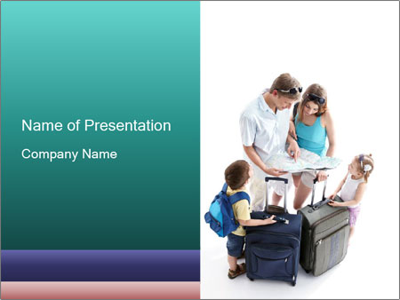 Family's Travel Plans PowerPoint Templates