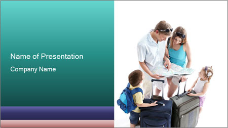 Family's Travel Plans PowerPoint Template